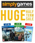 SIMPLY GAMES - Half Term SALE is ON!