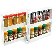 Kitchen Slide & Swivel Herb Spice Bottle Rack Shelf Tidy Compact Jar Organiser