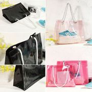PVC Fashion Women Travel Shopping Handbag Storage Shoulder Beach Bag