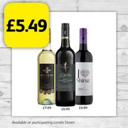 Selected Wines down to £5.49