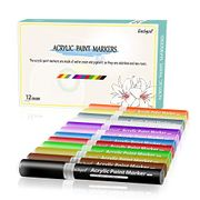 Water-Based Acrylic Paint Marker Pens12 Colors/Set