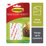 Command Poster Strips (Pack of 6, 12 Small Strips per Pack)