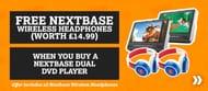 Free Nextbase Wireless Headphones When You Buy a Nextbase Dual Dvd Player