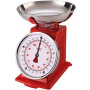 Brights Retro Mechanical Kitchen Scale - Red