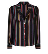 Black Rainbow Stripe Shirt