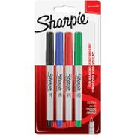 Sharpie Fine Tip Coloured Pen - Pack of 4