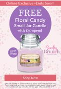 Free Floral Candy Small Jar Candle When You Spend £50