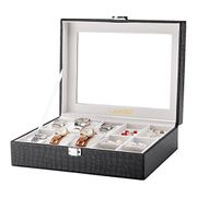 LANGRIA 10-Slot Watch and Accessories Display Storage Box