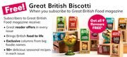 Free Great Biscotti When You Subscribe to the Magazine