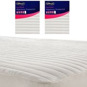 Silentnight Quilted Stripe Mattress Protector Fitted Bed Cover (Single Size)