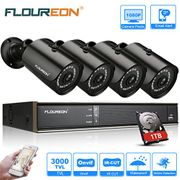 CCTV Camera System with 1TB Hard Drive 8CH 5-in-1 1080N DVR