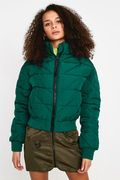 Urban Outfitters Green Quilted Crop Puffer Jacket - SAVE £32