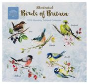 WHSmith Birds of Britain Large Calendar Tab 2019 Month to View