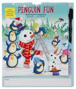 WHSmith Penguin Fun 4 Tab Large Family Organiser 2019 Month to View