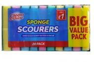 20 Rainbow Sponge Scourers 69p at Poundstretcher Were £1