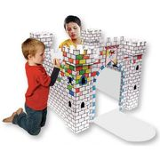 Colour in Cardboard Castle Playhouse at Hobbycraft Half Price
