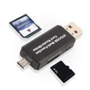 Micro USB OTG to USB 2.0 Adapter SD Card Reader for Android