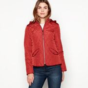 The Collection - Red Brick Quilted Hooded Jacket Sizes 8 to 26