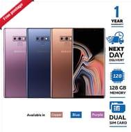 New Samsung Galaxy Note 9 128GB N960FD Dual Sim 2018 - Copper/Blue/Purple £569