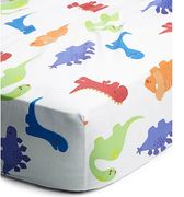 Dinosaur Print Easy Care Fitted Sheet - Toddler Only £4
