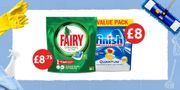 Fairy Tablets at £8.75 and Finish Tablets at £8