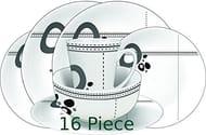 Leisurewize 16 Piece Melamine Dinner Set Abstract