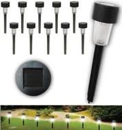 Set of 10 Plastic Garden Wedding Path Outdoor Led Solar Light Torch Lantern Lamp