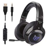 Gaming Headset with Mic, Noise Cancelling (LED LIGHTS)