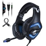 Gaming Headset with LED Lights. - Noise Cancelling