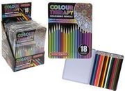 Colour Therapy 18 Professional Pencil Crayons in Tin Bx