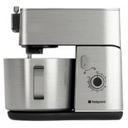 Hotpoint KM040AX0 Kitchen Machine 400W Food Processor in Stainless Steel