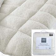 LUXURY TEDDY FLEECE MATTRESS TOPPER
