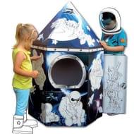 Bargzin! Colour in Cardboard Rocket Playhouse at Hobbycraft