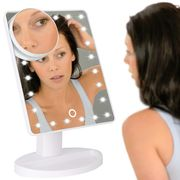 LED Light up Illuminated Make up Bathroom Mirror with Magnifier