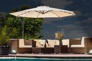XL LED Cantilever Garden Parasol with Protective Cover - 5 Colours!