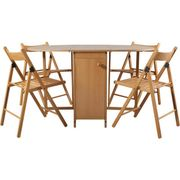 Butterfly Extendable Oval Table & 4 Chairs - Oak