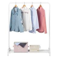 LANGRIA Modern Minimalist Heavy Duty Metal Clothes Rail Stand