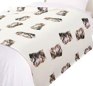 Dreamscene FCAT110 Cat Print Throw Blanket Sale, Animal Print Bedspread