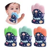55%Off Decdeal Teething Mitten for Babies Silicone Teether Glove Soundable