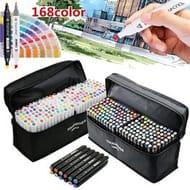 168 Colors Artist Alcohol Dual Marker Pens