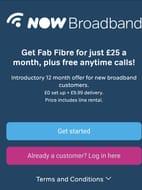 NowTV Broadband 12mth Deal