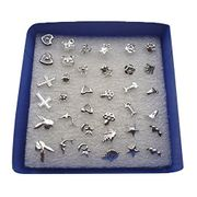 24Pairs/Set Wholesale Girl Mixed Shape Allergy Earring