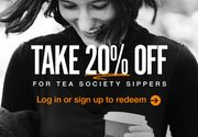 20% off for Our Fave Tea Lovers!