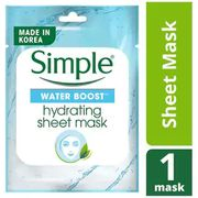Simple Water Boost Sheet Mask: 1/2 Price