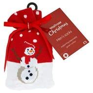 Mens Christmas Socks - Pack of 6 Stocking Fillers