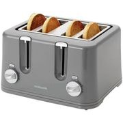 Bargain! Cookworks 4 Slice Toaster - Grey at Argos