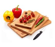 Premium Extra-Thick 3 Piece Bamboo Chopping Board Set | FSC and LFGB Certifie