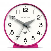 Newgate the Bubble Ii Silicone Alarm Clock, Hot Pink