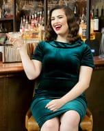 Emerald Velvet Wiggle Dress