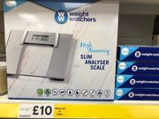 Weight Watchers Glass Analyser Bathroom Scale (Instore Liverpool Tesco)